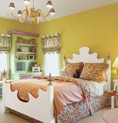 vibrant yellow can be a smart choice for a child's room