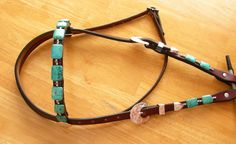 Turquoise Headstalls - Inspired Turquoise by Red Turf Ranch Custom Tack<br />Rocking Your World Since The Year 2000!