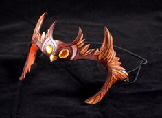 Little Brown Owlet Leather Cosplay Masklette Circlet by PlatyMorph