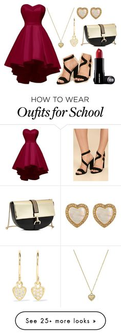 """""""School homecoming"""" by toria-rid on Polyvore featuring Michael Kors, Jennifer Meyer Jewelry, Carolee, Liliana and Lanvin"""