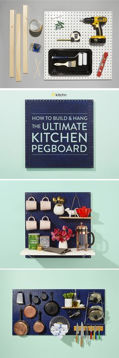 The Great Kitchen Pegboard: How to Build and Hang the Ultimate Kitchen Storage Solution — The Great Kitchen Pegboard