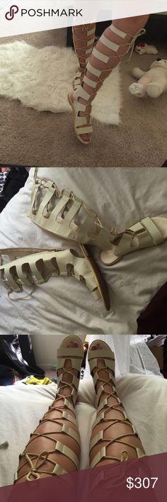 Gladiator shoes Worn once not Steve Madden Steve Madden Shoes Sandals