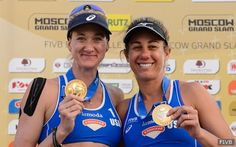 A HUGE shout-out to @kerriwjennings and #AprilRoss for being named @teamusa's Team of the Month! #Olympics #Rio2016 #RoadtoRio #beachvolleyball #USAVolley2016 #USABeach