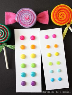 These DIY candy button dot earrings only cost FIFTEEN CENTS per pair to make! Awesome gift idea! Under $1 for SIX pairs!