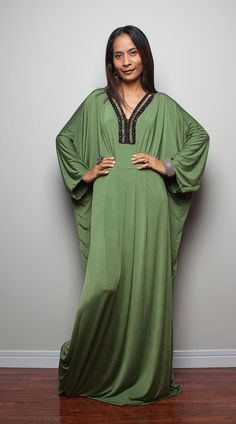 Kaftan Dress Kimono Butterfly Maxi Dress Elegant by Nuichan, $59.00
