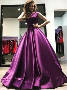 Cheap Prom Dress A-line Simple Beautiful Vintage Long Prom Dress # VB1373