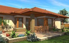Mediterranean Homes Exterior, Mediterranean House Plans, Tuscan Homes, Mediterranean Decor, Village House Design, House Front Design, Bungalow Exterior, Exterior House Colors, Exterior Homes