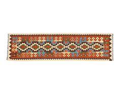 Kilim anudado a mano en lana Inas - 202x54cm