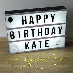 Cinema Lightbox Customisable Letter Sign