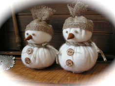 Rustic Style  Christmas  Snowmen . by Mydaisy2000 on Etsy
