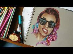 Kandee Johnson - Time lapse drawing - YouTube