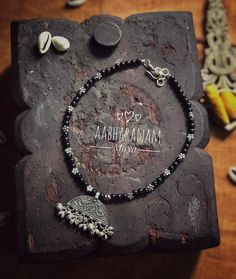 Aabharanam || Maya series new version|| only 4 pieces available can customise in maroon green and black..!!! Please dm us or write to us at… Indian Jewellery Design, Indian Jewelry, Jewelry Design, Dress Models, Oxidised Jewellery, Beaded Ornaments, Oxidized Silver, Dog Tag Necklace, Jewelry Collection