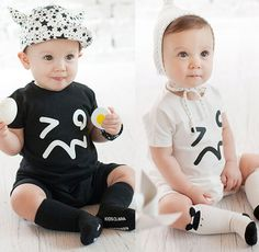 Free Shippin Baby Short Romper Fashion Smile Short Sleeve Unisex Jumpsuit Outfit