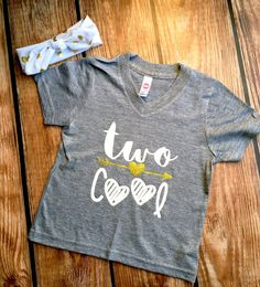 TWO Cool - Girls' Birthday Shirt - TWO Year Old - 2nd Birthday - Two cute - Two Fabulous - Birthday Girl - Two Adorable - I am TWO Cool
