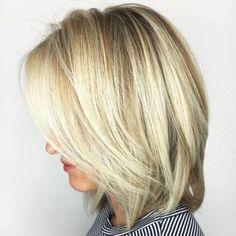 70 Devastatingly Cool Haircuts for Thin Hair - - Blonde Balayage Bob Bob Hairstyles For Fine Hair, Haircuts For Fine Hair, Cool Haircuts, Layered Haircuts, Short Haircuts, Blonde Hairstyles, Formal Hairstyles, Wedding Hairstyles, Medium Hair Styles