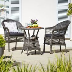 Pöytä SANDBAKKE Ø69cm+2 tuolia SANDBAKKE Outdoor Furniture Sets, Outdoor Decor, Decor, Furniture, Outdoor Furniture, Home, Furniture Sets, My Design, Home Decor