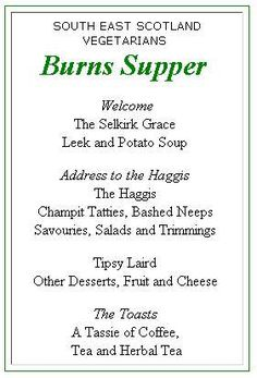 Address to a haggis ready to read for burns supper for Burns supper menu template
