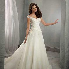 vestido de noiva longo com apliques
