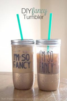 DIY Projects for Teenagers - DIY Fancy Tumbler - Cool Teen Crafts Ideas for Bedroom Decor, Gifts, Clothes and Fun Room Organization. Summer and Awesome School Stuff http://diyjoy.com/cool-diy-projects-for-teenagers Mason Jar Crafts, Mason Jar Diy, Creative Crafts, Fun Crafts, Diy Bachelorette Party, Popular, Free, Diy Party, Diy Tutorial