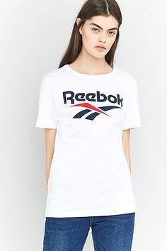 awesome Reebok - T-Shirt in Weiß mit Logo - Damen 40