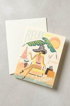 Relax Birthday Card - anthropologie
