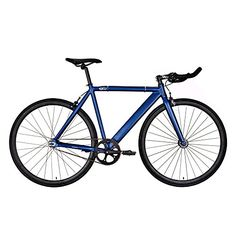 Fixed Gear Bikes - 6KU Track Fixed Gear Bicycle Navy BlueBlack 49cm * Learn more by visiting the image link.