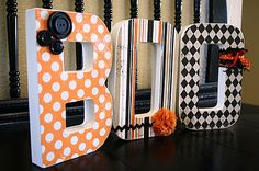 Decorated {BOO} Letters