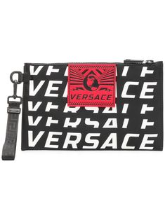 112ad942bad9 VERSACE VERSACE LOGO CLUTCH BAG - BLACK.  versace  bags  shoulder bags