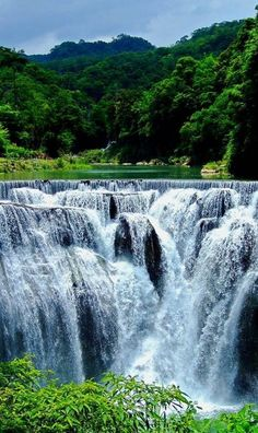 Shifen waterfall in Taiwan is one of the most impressive waterfalls around the world.