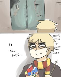 IT ALL ENDS... by *Randomsplashes on deviantART It's alright Iggy, us Potterheads had the same reaction.