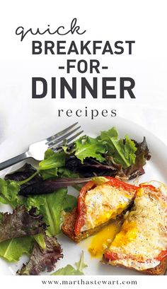 Quick Breakfast for Dinner Recipes | Martha Stewart Living - Enjoy some of your morning favorites for a quick dinner tonight, including scrambled eggs, frittatas, omelets, pancakes, and more!