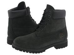 """Timberland Classic 6"""" Premium Boot in black. Gotta have both colors  (wheat and black)"""