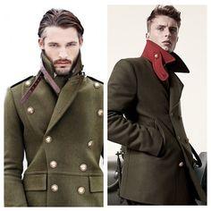 These coatslove it. Stylish Men, Men Casual, Mens Shearling Jacket, Military Fashion, Mens Fashion, Dapper Suits, Sharp Dressed Man, Gentleman Style, Men Dress