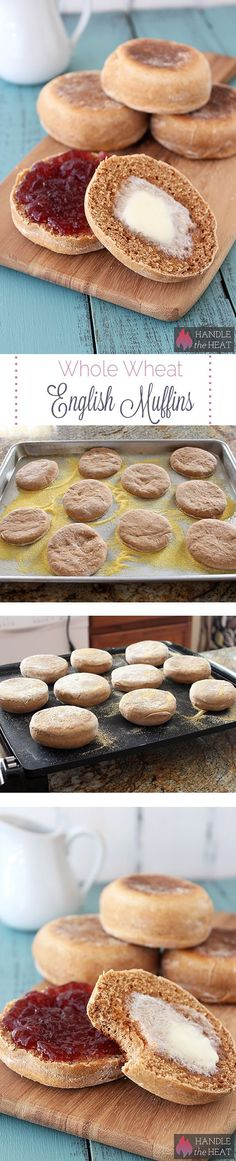 Homemade Whole Wheat English Muffins Recipe from Handle The Heat