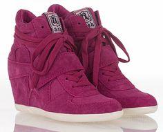 Pink Wedge Sneakers