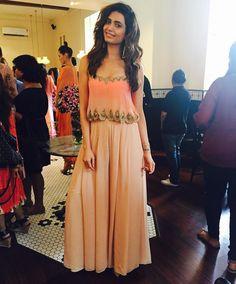 Le 15 cafe colaba for high tea. Indian Wedding Outfits, Indian Outfits, Indian Attire, Indian Wear, Indian Designer Outfits, Designer Dresses, Lehenga, Anarkali, Dhoti Saree