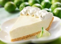 authentic key lime pie, how do i make a key lime pie? learn to bake key lime pie, Pie-Recipes, at pie baker pro The Cheesecake Factory, Key Lime Cheesecake, Dessert Aux Fruits, Pie Dessert, Just Desserts, Delicious Desserts, Yummy Food, Yummy Yummy, Baking Desserts