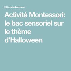 Activité Montessori: le bac sensoriel sur le thème d'Halloween