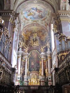 baroque, church, and gold image