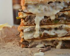 Philly Steak & Grilled Cheese.  Get your #GrilledCheeseMonth ON!