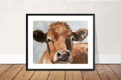 Cow Painting, Cow Art, Cow PRINT - Cow Oil Painting, Holstein Cow, Farm Animal Art, Farmhouse Art, Prints of Farm Animals, Farm Wall Art by JamesCoatesFineArt2 on Etsy Holstein Cows, Cow Painting, Cow Art, Farm Animals, Wrapped Canvas, Original Paintings, Moose Art, Farmhouse, Oil