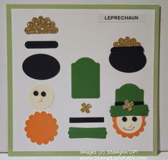 How to make a Punch Art Leprechaun . . . just in time for St.Patrick's Day Cards #StampinUp