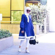 Hijab Outfit Ideas 2018 for stylish women - Fashion Hijab Fashion Summer, Street Hijab Fashion, Abaya Fashion, Fashion Outfits, Eid Outfits, Modest Fashion, Casual Hijab Outfit, Hijab Chic, Hijab Wear
