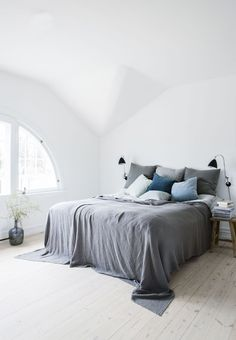minimial bedroom style | A DANISH HOME DECORATED IN A SOFT COLOR PALETTE | THE STYLE FILES