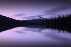 """Trillium Lake in Mount Hood National Forest, Oregon at Sunset   GPS 45°16'6"""" N 121°44'19"""" W    If you are interested in knowing the exact GPS coordinates of the photographs in my portfolio, they live in a map I host here: http://deepakghosh.photography/locations.    I see way too many well composed and otherwise beautifully processed photographs ruined by excessive sharpening, and so here's a quick post-processing tip to avoid over-sharpening: watch Jimmy McIntyre's video and download his…"""