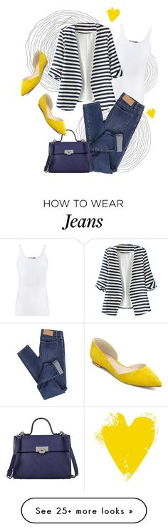 """""""blue and yellow """" by samah on Polyvore featuring Vince, WithChic, Cheap Monday, Lodis and Marc Fisher LTD"""
