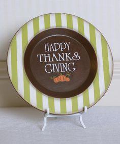 'Happy Thanksgiving' Decorative Plate