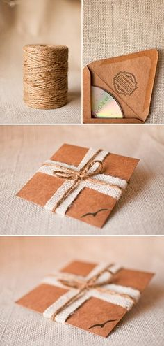 craft paper string cd case