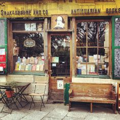 This is the best place to enjoy Parisian life outside and inside. This spot is world famous for it's location and habitual presence of authors past. This is a joy for any book lover with it's unique nooks with dusty old books. Shakespeare And Company Paris, Any Book, Paris France, The Good Place, The Outsiders, Store Fronts, Nooks, Nice Things, Parisian