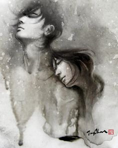 Wow amazing illustrations.. looks like part watercolor too maybe?
